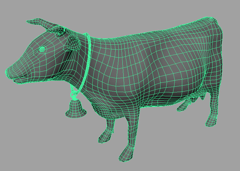 Cow model/rig in 3D