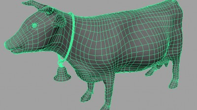 cow maya 3d topo